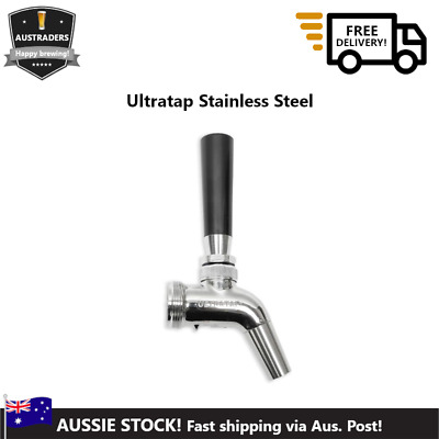 Ultratap Stainless Beer Tap Draft Faucet Gear, with shanks or auto-close spring