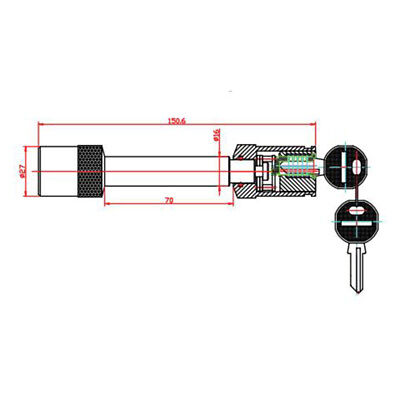 Trailer Deadbolt Hitch Lock Truck With 2 Keys Steel Φ16 Car New Durable Sale