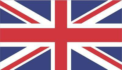 3.5x2 British Flag Bumper Sticker Vinyl Window Car Decal Stickers Truck Decals