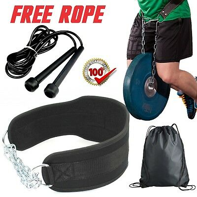 ~BEst Dipping Belt Body Building Weight Lifting Dip Chain Exercise Gym+Rope+Bag