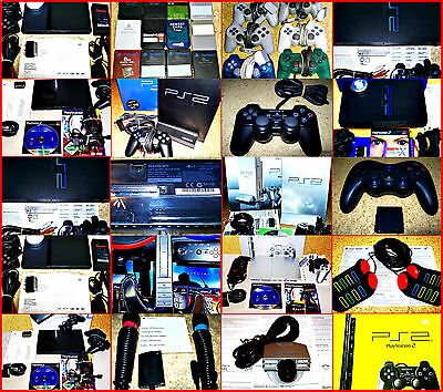 Sony PS2 & Psx Fat & Slm Consolas & Zub. Auswahl. Singstar, Guitar Hero, Buzz, C