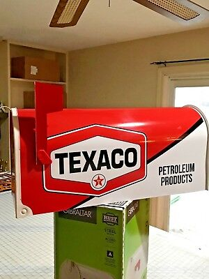TEXACO MAILBOX Vintage Look POSTMASTER APPROVED MOBILE SHELL PEGASUS GAS & OIL