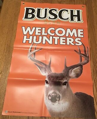 Welcome Hunters Busch Beer Banner