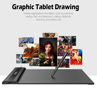 "AU VEIKK S640 Digital Graphic Drawing Tablet 6x4"" USB 8192 Levels Pen 5080 LPI"