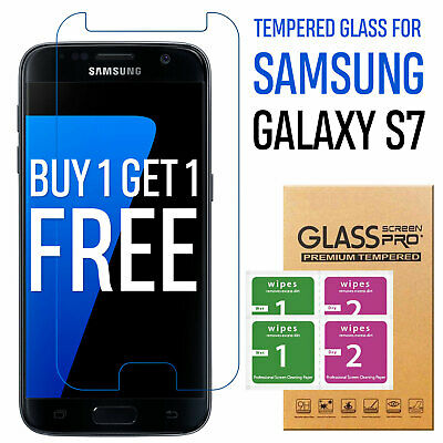 For Samsung Galaxy S7 Genuine Tempered Glass Film Lcd Screen Protector Clear