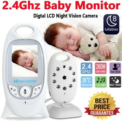 "2"" Baby Monitor 2.4GHz Color LCD Audio Talk Night Vision Wireless Digital Video"