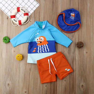 Kids Baby Boys Girls Swimsuit Swimwear Bikini Set Octopus Surfing Suit UPF 50+