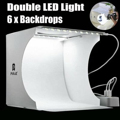 New Portable Photo Studio Lighting Mini Box Photography Backdrop LED Light Tent
