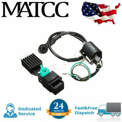 IGNITION COIL + CDI + Regulator Rectifier For 50 70 90 110 125cc