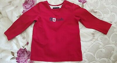 Tommy Hilfiger Red  t-shirt Top baby girl 18months