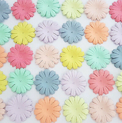 500 Pastel Paper Flowers Scrapbook Card Birthday Party Art Craft Supply P70-426