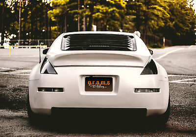 Rear Window Louvers to fit Nissan 350z Z33 v8