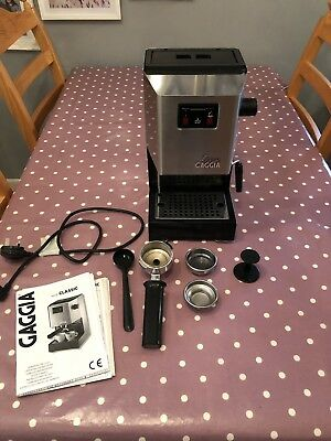 Gaggia Classic Coffee Espresso Machine.