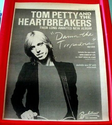 Tom Petty Damn The Torpedoes Vintage ORIG 1979 Press/Magazine ADVERT Poster-Size