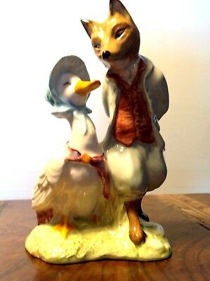 Royal Albert Beatrix Potter ' Jemima Puddleduck with Foxy Whiskered Gentleman'
