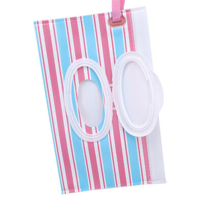 Reusable Kids Wet Wipe Pouch Refillable Clutch Baby Wipes Dispenser B