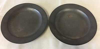 "A Pair Of Small Vintage  Pewter 6"" Plates By  James Yates"