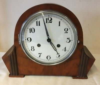Art Deco Style Mantel Clock - No Key - Spares / Repairs