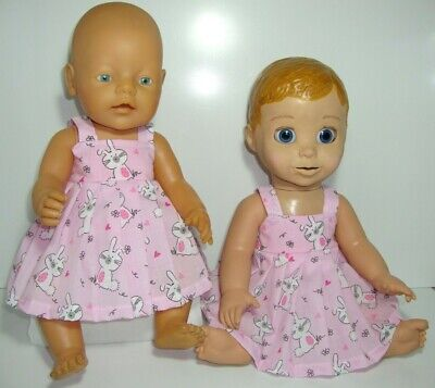 """17"""" HANDMADE  DOLLS CLOTHES MADE TO FIT BABY BORN or LUVABELLA"""