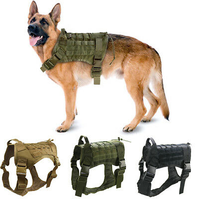 Tactical Military Dog Harness Large Dogs Training Harness for German Shepherd
