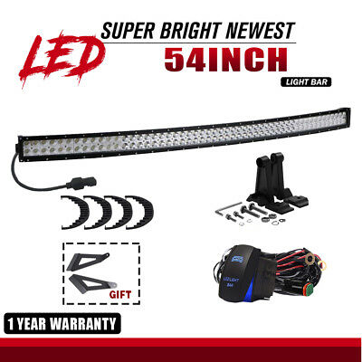 54Inch Curved 312W Led Work Light Bar Combo 4Wd Fog Truck For Jeep Boat Ute