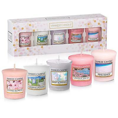 2019 New Yankee Candle Gift Set 5 Votive Candles For Birthday Valentines Wedding