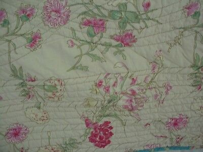 Vintage French Country Quilt Coverlet Boutis Pretty Floral