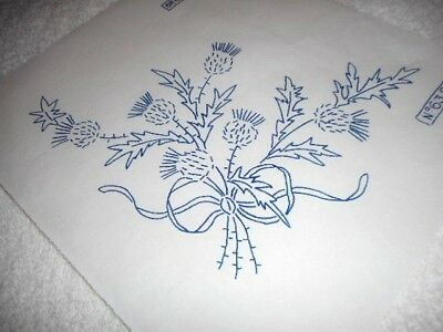 Vintage Embroidery Iron on Transfer- Briggs No. 635 - Thistles