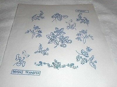 Vintage Embroidery Iron on Transfer - Briggs No.28017 - Flowers