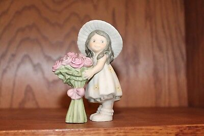 Kim Anderson Bahner Figurine 472646 ~ Girl Standing with Roses ~ 1998 ~ VG!