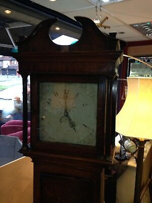 antique grandfather clock Oak Cased
