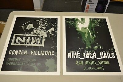 Set Of 12 Nine Inch Nails Nin 2005 Tour Posters