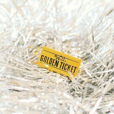 Golden Ticket Pin   Willy Wonka   Charlie and the Chocolate Factory   Roald Dahl