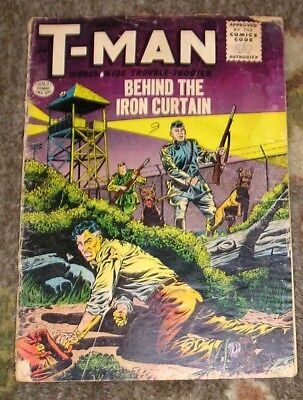 """1956 (1st Series) QUALITY COMICS """"T-MAN"""" #32 - Behind The Iron Curtain"""