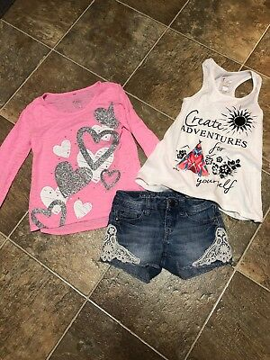 justice girls size 8 lot 3 Items