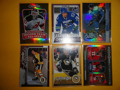 6 NHL Hockey Trading Cards mit HOFers Inserts