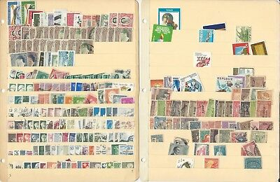 Worldwide Stamp Collection on 10 Stock Pages, Unsorted Loaded Lot (B)