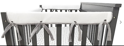 American Baby Company 2 Pack Heavenly Soft Chenille Reversible Crib Rail Cover
