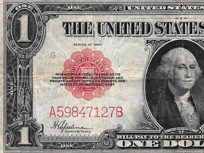 1923 $1 United States Note - RED SEAL