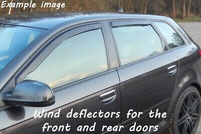 Wind deflectors for Opel Astra H 2006-2010 Sedan Saloon 4doors front&rear