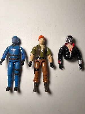 gijoe lot cobra commander, tollbooth, destro upper, for parts or repair