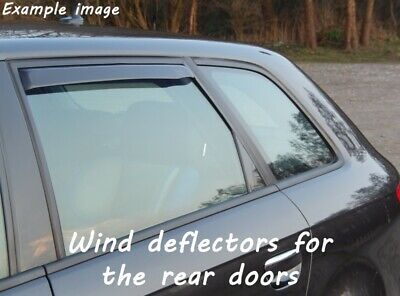 Wind deflectors for Hyundai Tucson 1 JM 2004-2010 SUV Offroad 5doors rear