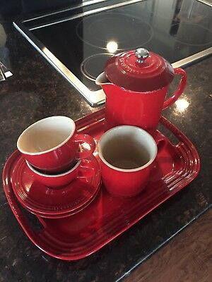 Le Creuset Cherry Red French Press Coffee Pot Set