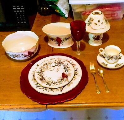 a winter greetings china by lenox excellent condition beautiful Christmas china