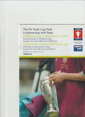 2002/3  FA Youth Cup Final - Middlesbrough  v  Manchester United