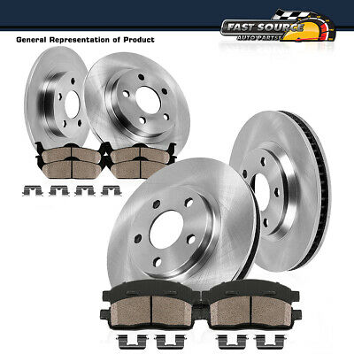 For Cadillac,Buick DeVille,Park Avenue Front Rear Black Drill Slot Brake Rotors