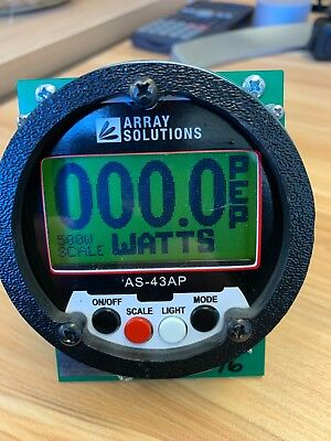 Array Solutions AS-43AP Ham Radio Or Commercial Digital Power Meter