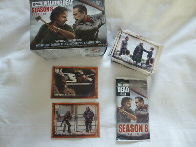Walking Dead Season 8 Part 1 90 Card Base Set+2 Rust Parallel +Empty Box&Wrapper