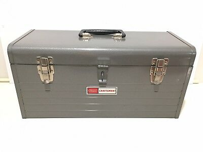 Vintage Craftsman 6512 toolbox w/carry tray & ORIGINAL BOX it came in.