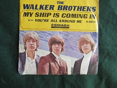 The Walker Brothers My Ship Is Coming In picture sleeve Smash S-2016 45 rpm